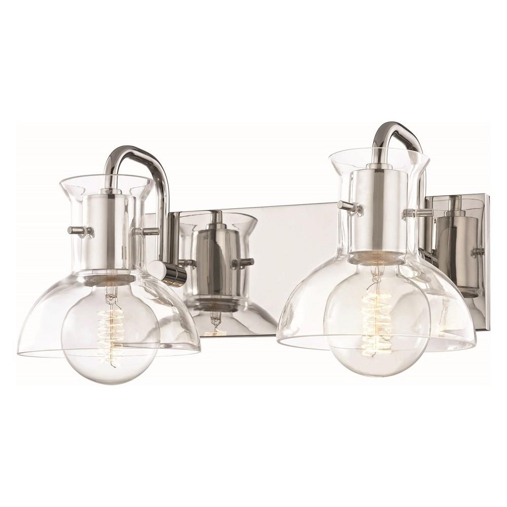 2pc Riley Bath Light Brushed Nickel - Mitzi by Hudson Valley