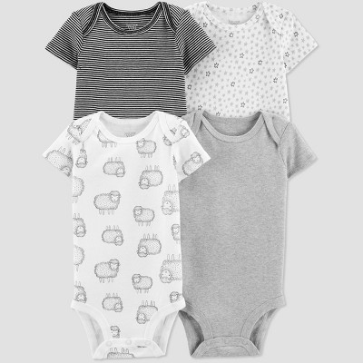 Baby 4pk Bodysuit - Just One You® made by carter's Gray Newborn