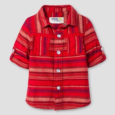 Baby Boys' Button Down Shirt - Red Velvet 12 M - Genuine Kids™ from Oshkosh®