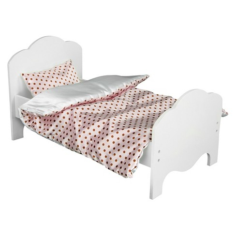 "Olivia's Little World - Little Princess 18"" Doll Furniture - Single Bed & 3 Bedding Set - Polka Dots / Zebra Prints / Summer Flowers - image 1 of 3"