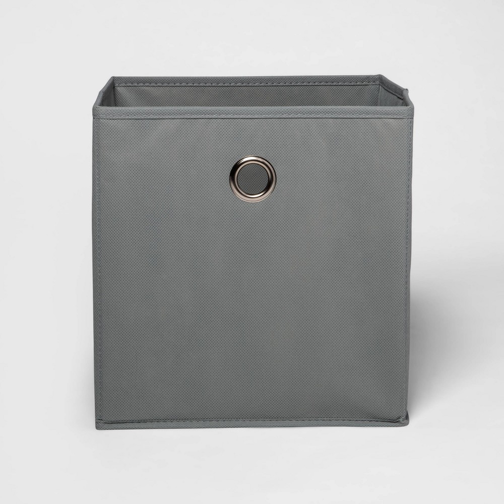 11 34 Fabric Cube Storage Bin Gray Room Essentials 8482