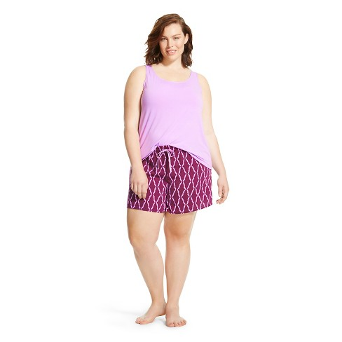 a8b99891d7af Women s Plus Size Sleep Set - Gilligan   O Malley™ - French Lilac ...