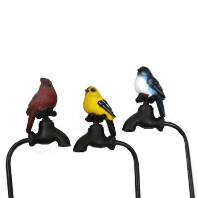 "Home & Garden 17.0"" Summer Birds Planer Pokes Set/3 Yard Decor Pick Stake Cardinal Direct Designs International  -  Decorative Garden Stakes"