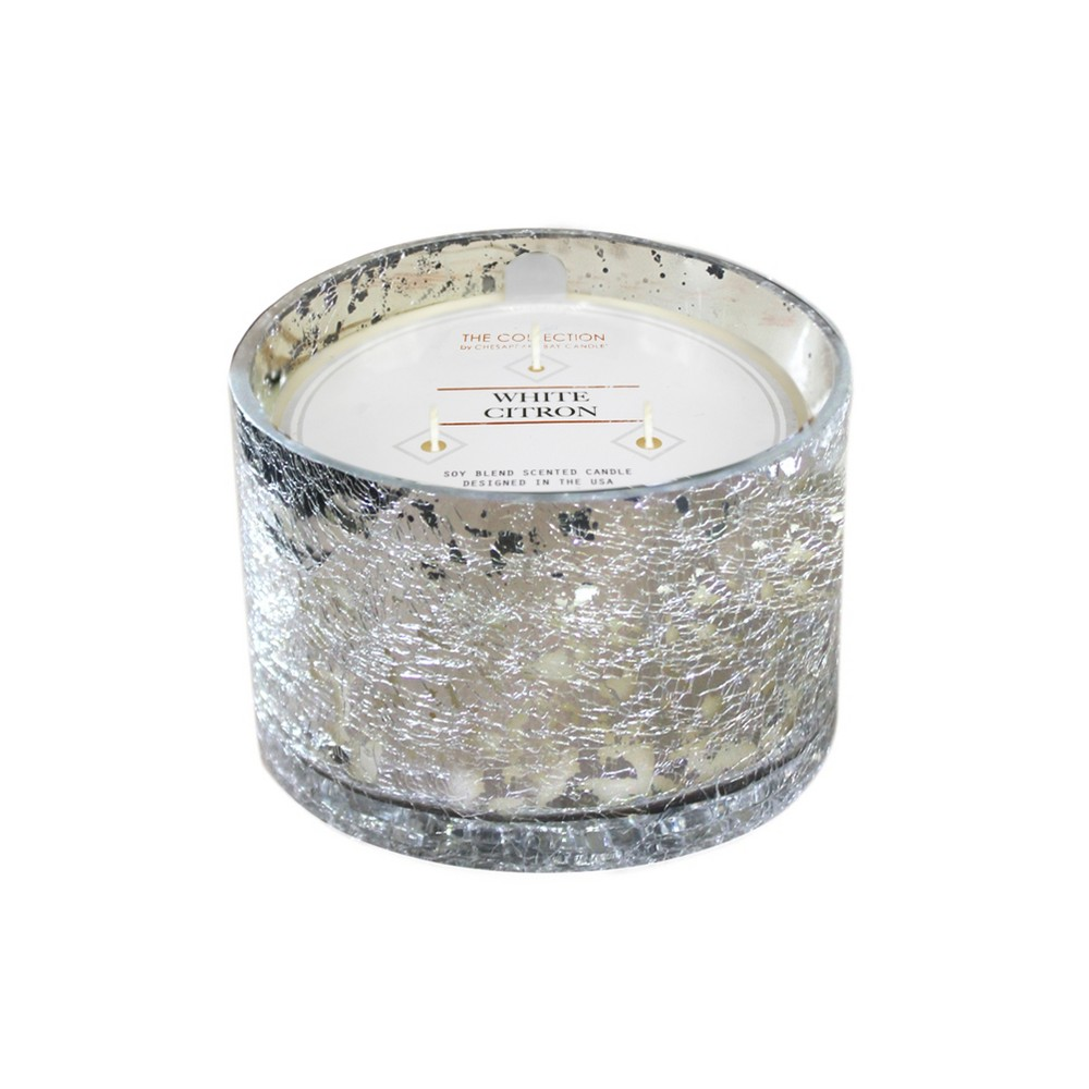 Image of 17.2oz Glass Jar 3-Wick Candle White Citron Mercury - The Collection By Chesapeake Bay Candle