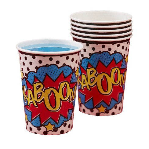 8ct Ginger Ray Paper Cups Comic Superhero - image 1 of 2