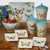 3pc Earthenware Nature Garden Canister Set - Certified International - image 2 of 2