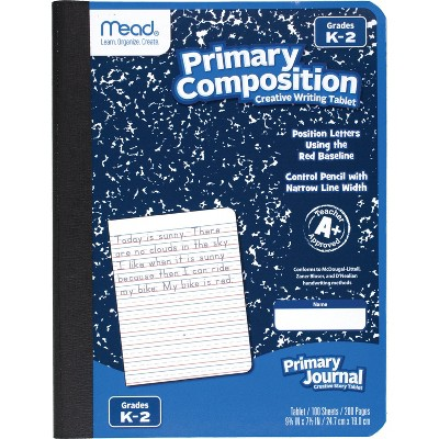 "Mead 100 Sheet Primary Composition Book 9.75"" x 7.5"""