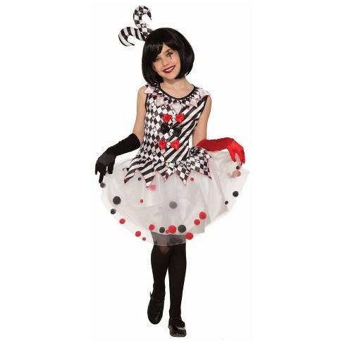 Halloween Costumes For Kids Girls 11 And Up.Girls Harlequin Clown Halloween Costume