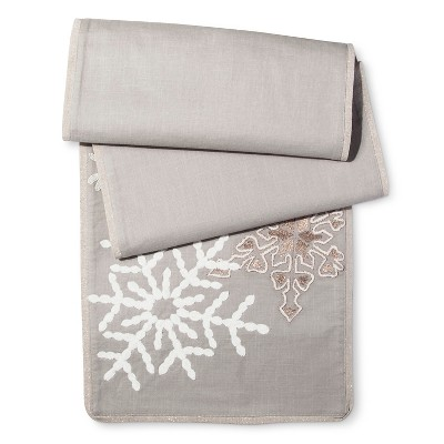 Gray Snowflakes Table Runner - Threshold™