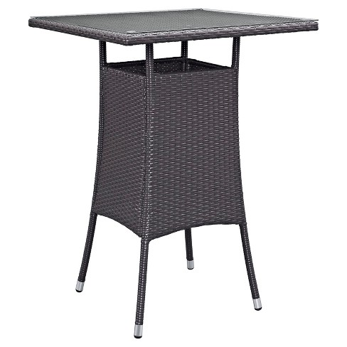 Convene Small Square Outdoor Patio Bar Table - Espresso - Modway - image 1 of 1