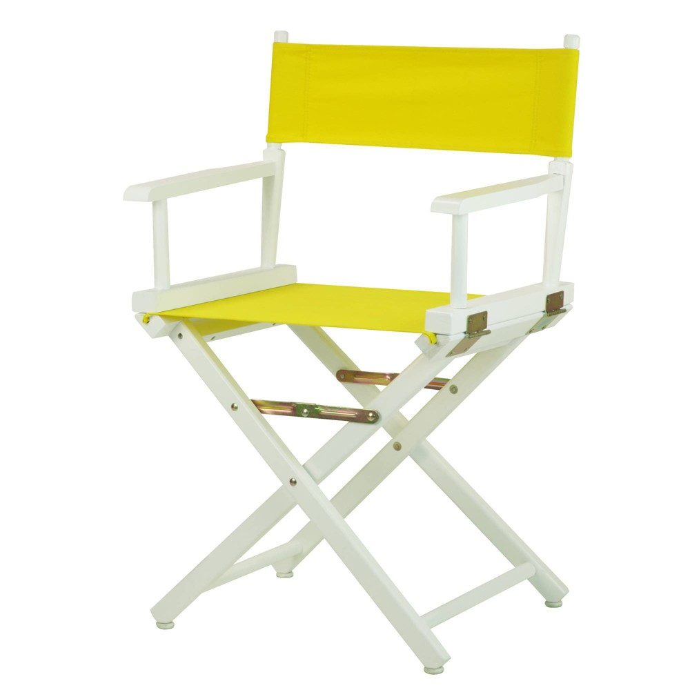 Yellow White Frame Director 39 S Chair