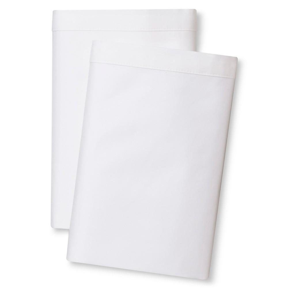 Banded Hem Supima Pillowcase Set (King) White - Fieldcrest