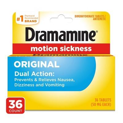 Dramamine Original Motion Sickness Relief Tablets - 36ct