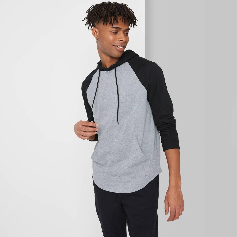 Men 39 S Regular Fit Long Sleeve Hooded T Shirt Original Use 8482 Black L