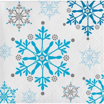 Snowflake Swirls Beverage Napkins