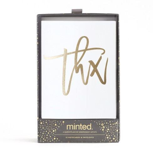 10ct Thank You Cards Minted Target