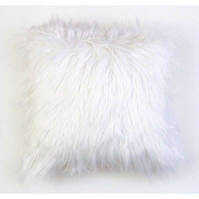 Keller Faux Mongolian Reverse To Micromink Throw Pillow - Décor Therapy : Target