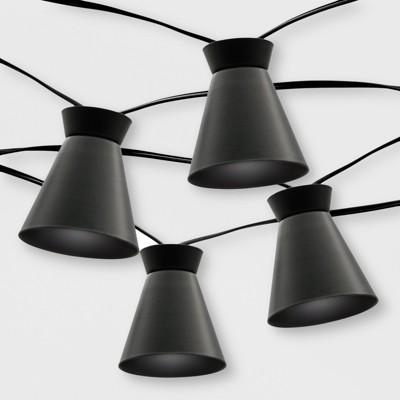 20ct Outdoor LED Solar String Lights Black Hood - Project 62™
