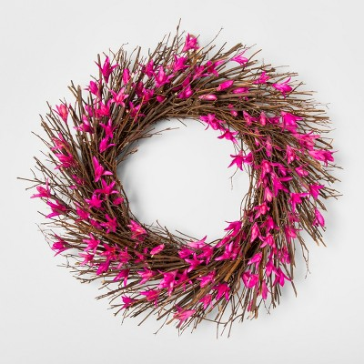 21.2  Dried Twig And Toona Flower Wreath Pink/Brown - Smith & Hawken™