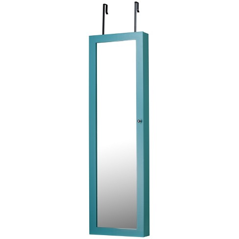 Mirrored Jewelry Armoire Turquoise - FirsTime - image 1 of 4