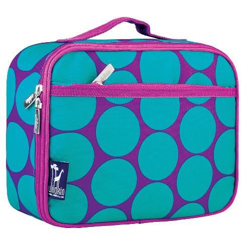 wildkin big dot lunch box aqua target