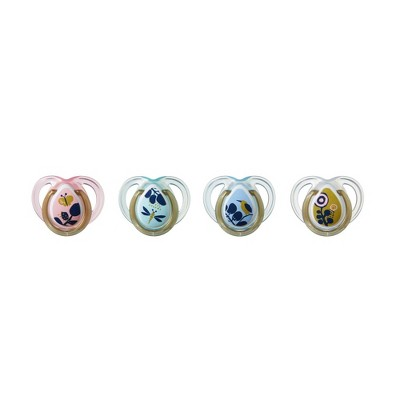 Tommee Tippee Closer To Nature Moda Pacifiers - Pink 4pk 0-6M
