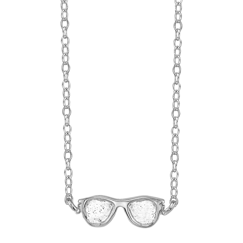 Footnotes Sterling Silver Sunglasses Station Necklace - Silver, Women's