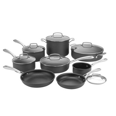 Cuisinart Classic 14pc Hard Anodized Cookware Set - 63-14