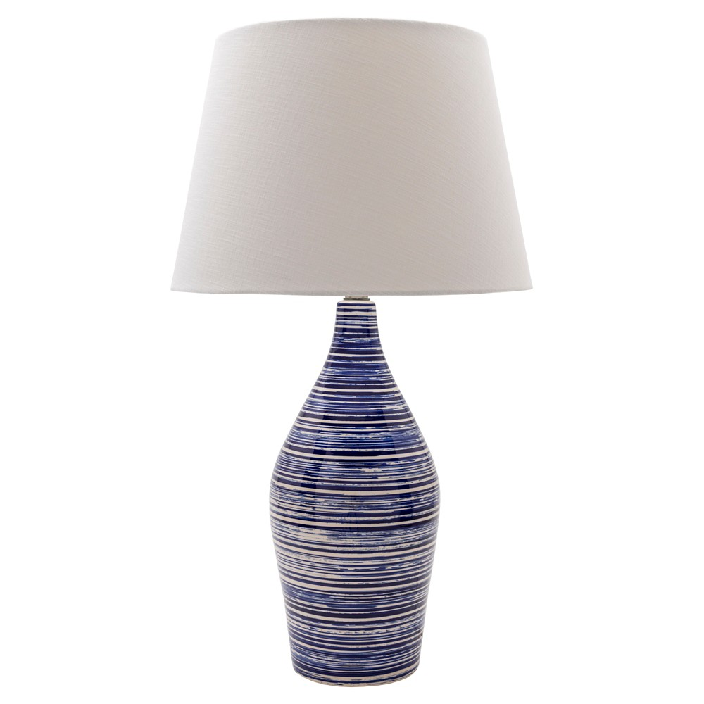 Volante Table Lamp Blue & White (Lamp Only) - Surya