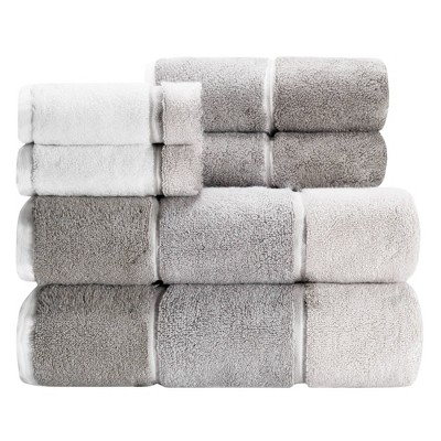 6pc Maya Bath Towel Set Gray - Caro Home