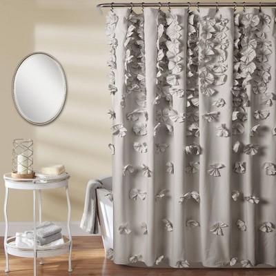 """72""""x72"""" Riley Shower Curtain Light Gray - Lush Décor"""