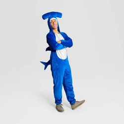 Adult Plush Hammerhead Shark Halloween Costume Jumpsuit - Hyde & EEK! Boutique™