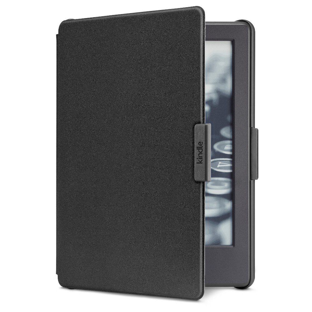 Amazon Cover for Kindle (8th Generation, 2016) - Black Protect your e-reader with the Amazon Cover for Kindle, Protective and Form Fitting Case for Kindle E-Reader (8th Generation, 2016). This kindle case fits snugly and has a foldable cover to shield your screen. Color: Black.