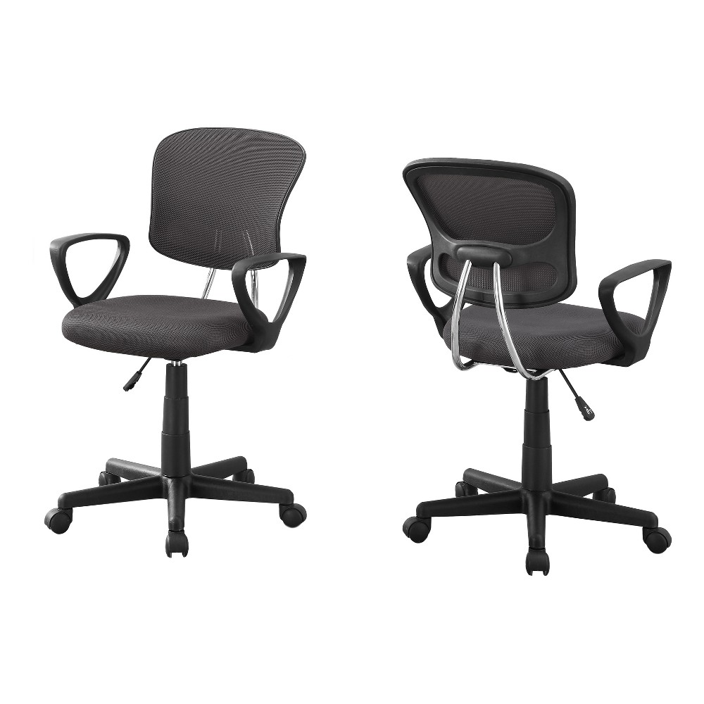 Office Chair - Grey Mesh - EveryRoom, Gray