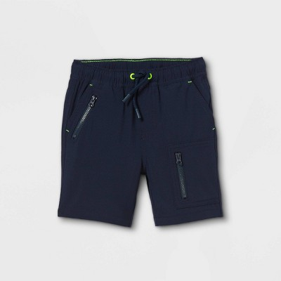 Toddler Boys' Woven Pull-On Quick Dry Utility Chino Shorts - Cat & Jack™ Navy