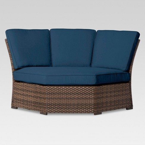 Halsted Wicker Patio Corner Sectional Seat - Threshold™ - image 1 of 4