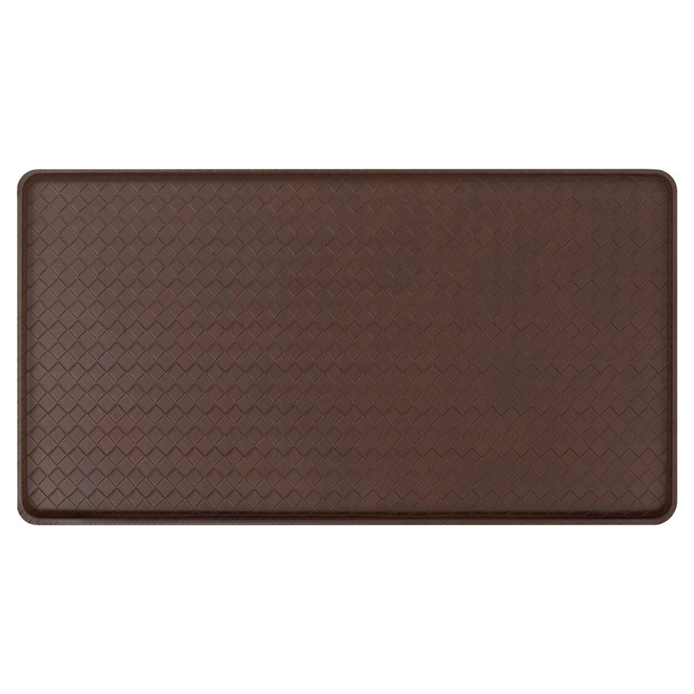"Image of ""Gelpro Classic Basketweave Comfort Kitchen Mat - Truffle (20""""X36"""")"""