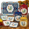 """6"""" 4pk Earthenware Morning Bloom Canape Plates - Certified International - image 2 of 2"""