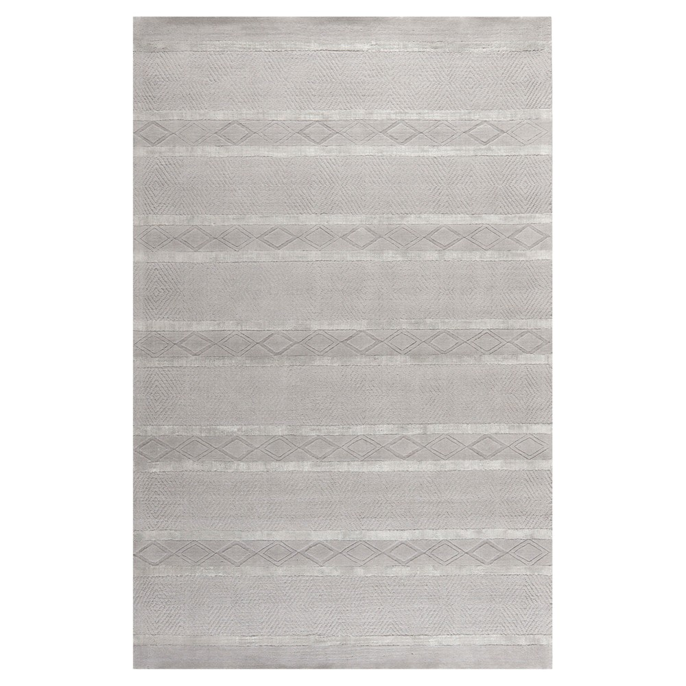 Light Gray Solid Tufted Area Rug - (7'6