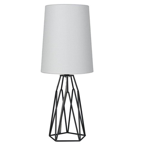 Accent Table Lamp With Metal Wire Black Lamp Only Mastercraft