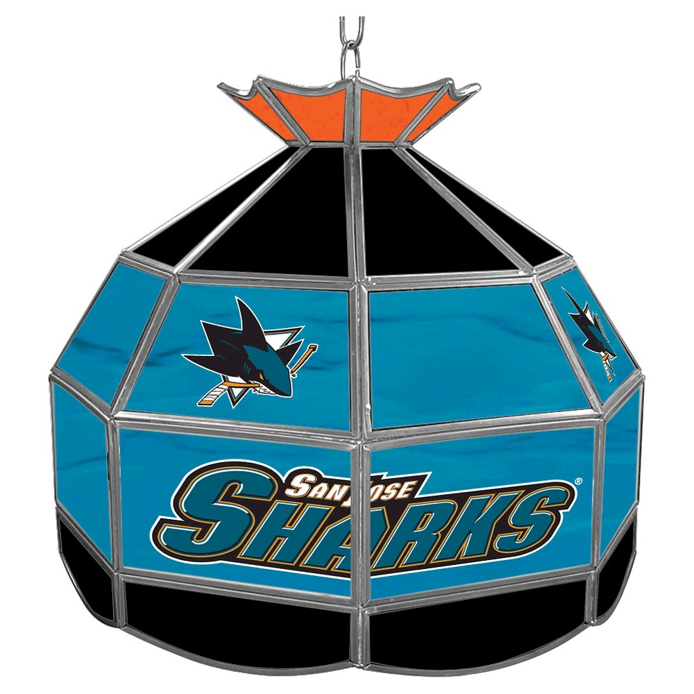 San Jose Sharks Stained Glass Tiffany Lamp - 16 inch