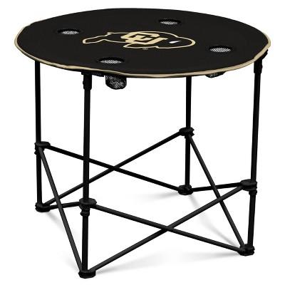 NCAA Colorado Buffaloes Round Portable Dining Table