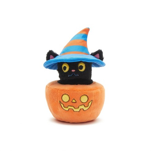 BARK Hide & Go Eeek! Cat Pumpkin Dog Toy - image 1 of 4