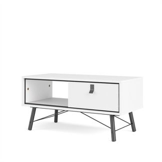 1 Drawer Coffee Table in White - Tvilum