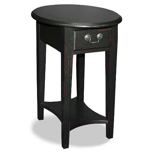 Shaker Oval End Table Antique Black - Leick Home - image 1 of 1