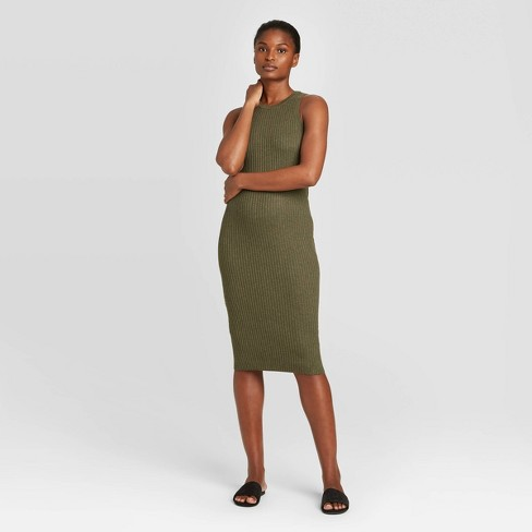 Women's Sleeveless Sweater Dress - Prologue™ Green - image 1 of 3