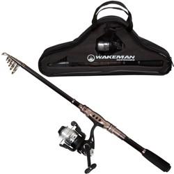Wakeman Fishing Rod and Reel Combo - Black