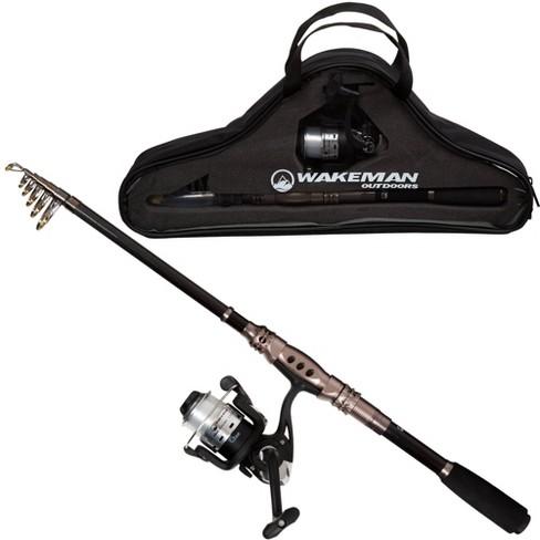 Wakeman Fishing Rod and Reel Combo - Black/Bronze - image 1 of 4