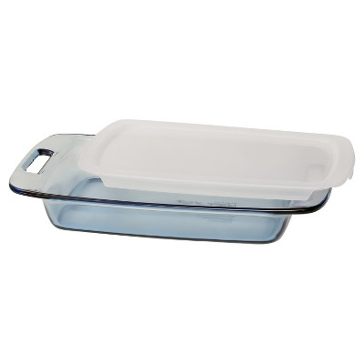 Pyrex - Tinted Glass Bakeware - 3 Quart Atlantic - Lidded