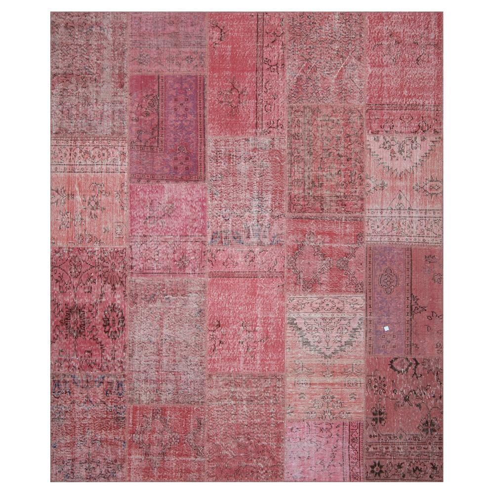 "Image of ""Antique Patchwork Area Rug Rose 8'2""""x9'10"""", Pale Pink"""